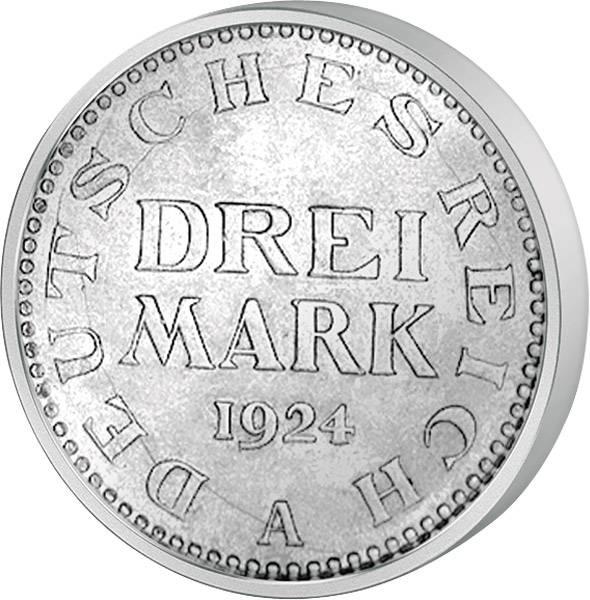 3 Mark Weimarer Republik Adler 1924-1925 ss-vz