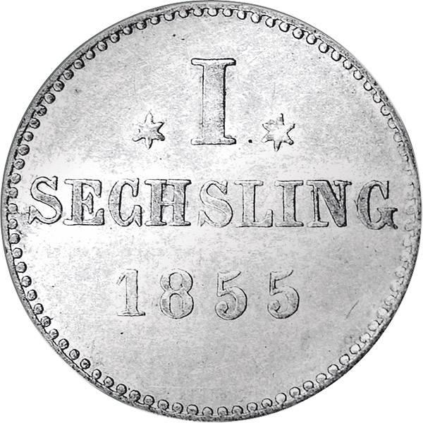 1 Sechsling  Freie Hansestadt Hamburg 1800-1855 sehr schön