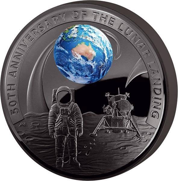 5 Dollars Australien 50 Jahre Mondlandung 2019