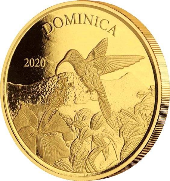 1 Unze Gold Dominica Kolibri 2020