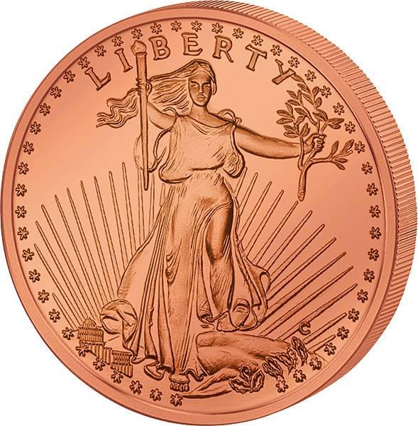 1 Unze Gedenkprägung St. Gaudens Liberty