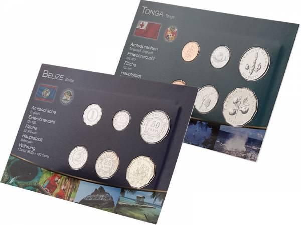 Premium-Kursmünzen-Set Tonga und Belize