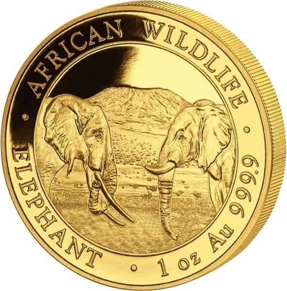 1 Unze Gold Somalia Elefant 2020