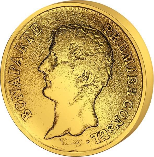 20 Francs Frankreich Napoleon I. ohne Kranz JuW