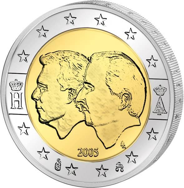 2 Euro Belgien und Luxemburg  Wirtschaftsunion 2005