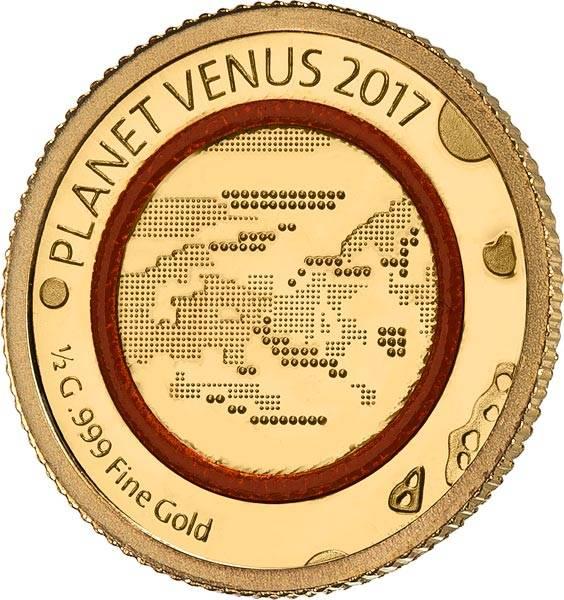 100 Francs Elfenbeinküste Planet Venus 2017