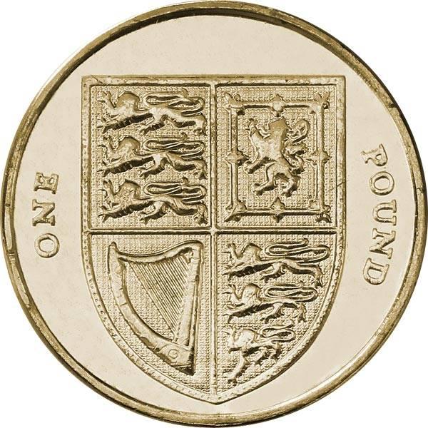 1 Pound Großbritannien Queen Elizabeth II. 2008-2014