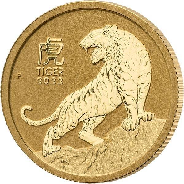 1/10 Unze Gold Australien Jahr des Tigers 2021