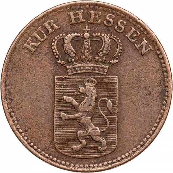 1 Kreuzer Hessen-Kassel Kurfürst Wilhelm II. 1825-1835