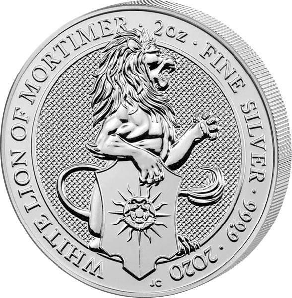 2 Unzen Silber Großbritannien Queens Beasts Löwe von Mortimer 2020