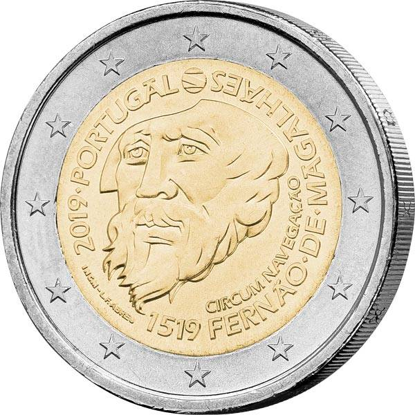 2 Euro Portugal 500 Magellan Weltumsegelung 2019