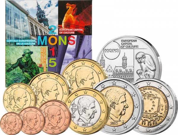 Euro-Kursmünzensatz Belgien inkl. zwei Gedenkprägungen