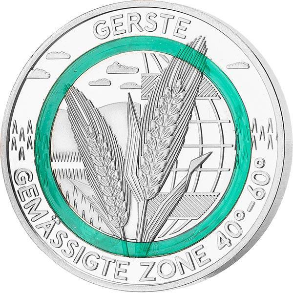 Gedenkprägung Gemäßigte Zone Gerste