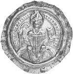 Brakteat Augsburg Bischof Udalschalk von Eschenlohe 1190 Vorzüglich