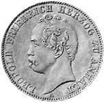 Vereinstaler Anhalt-Dessau Leopold Friedrich Silber 1858 ss-vz