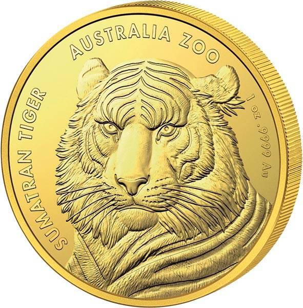 1 Unze Gold Australien Sumatra-Tiger 2020