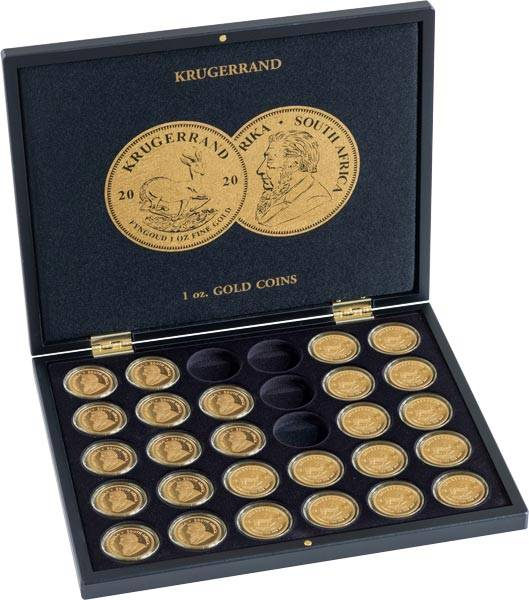 Münzkassette für 30 Goldmünzen Krügerrand