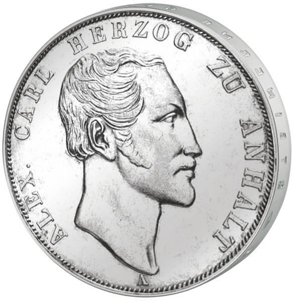 Taler Doppeltaler Alexander Carl 1840, 1845, 1855  vorzüglich