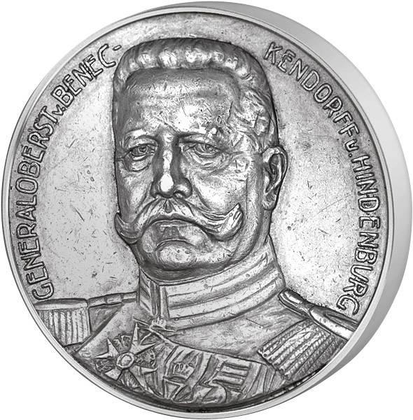 Silbermedaille Paul von Hindenburg