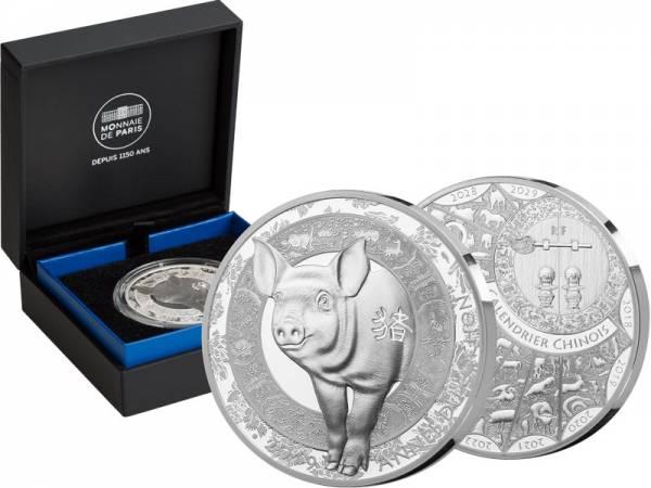 10 Euro Frankreich Jahr des Schweins 2019