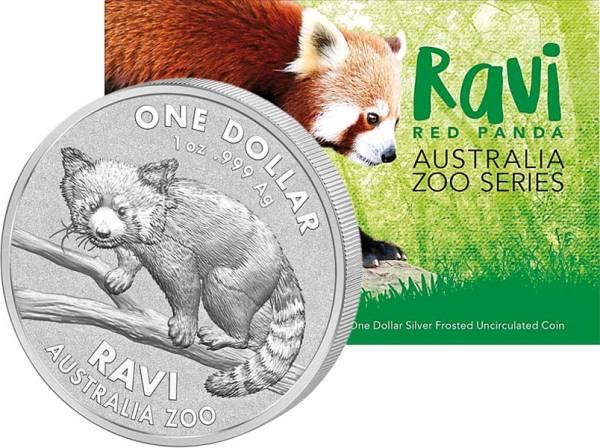 1 Dollar Australien Roter Panda Ravi 2018