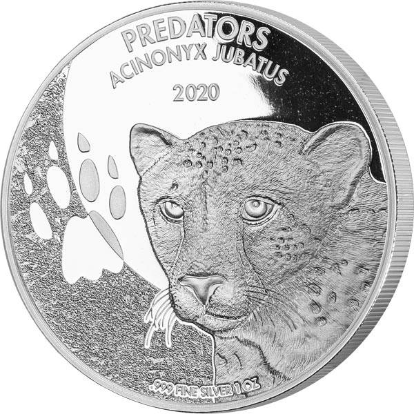 1 Unze Silber Kongo Gepard 2020