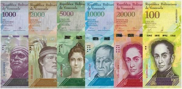1.000 - 100.000 Bolivares Venezuela 2016-2017
