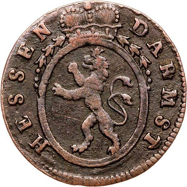 1 Pfennig Hessen-Darmstadt Landgraf Ludwig IX 1784-1790