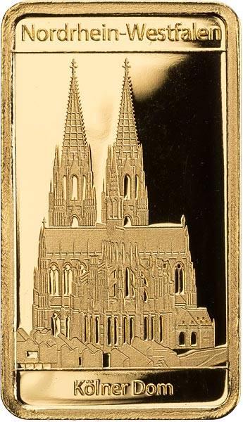 Goldbarren Nordrhein-Westfalen Kölner Dom