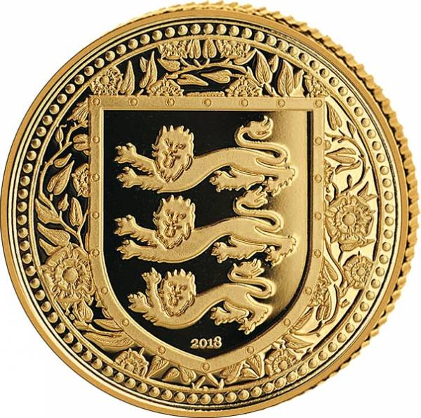 1 Unze Gold Gibraltar Royal Arms of England 2018