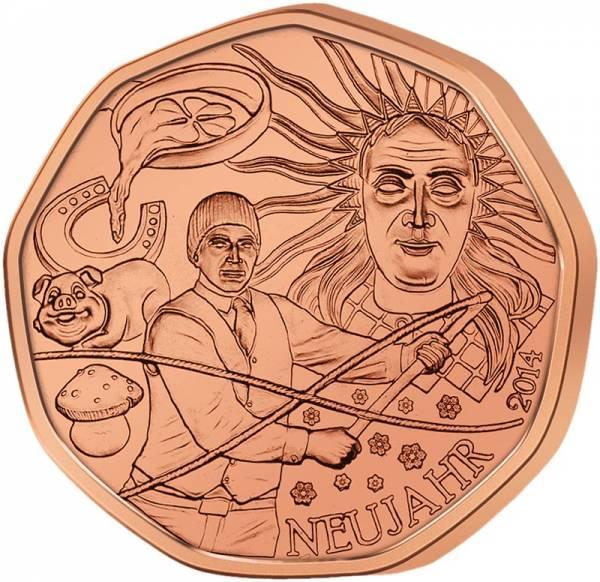 5 Euro Österreich Glück zum Neujahr 2014