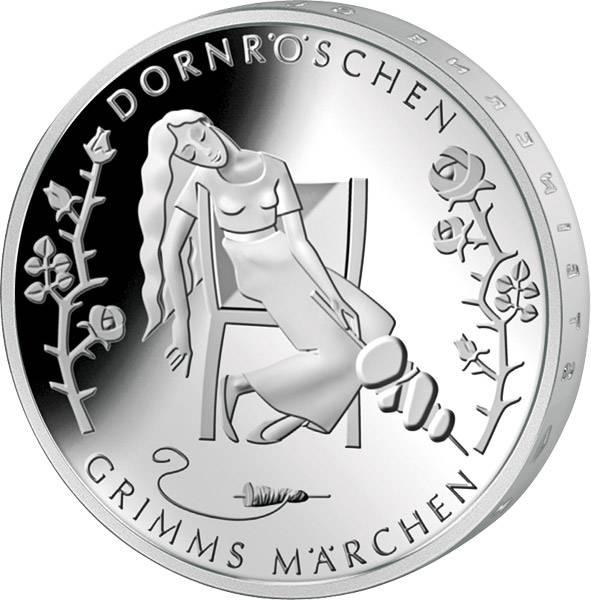 10 Euro Gedenkmünze BRD Grimms Märchen Dornröschen 2015