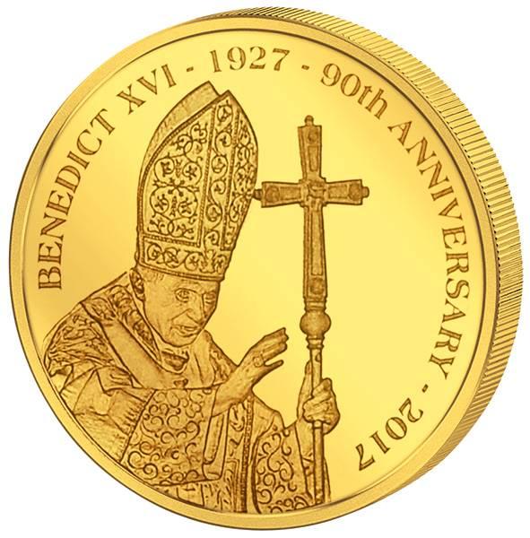 5 Dollars Cook-Inseln 90. Geburtstag Benedikt XVI.