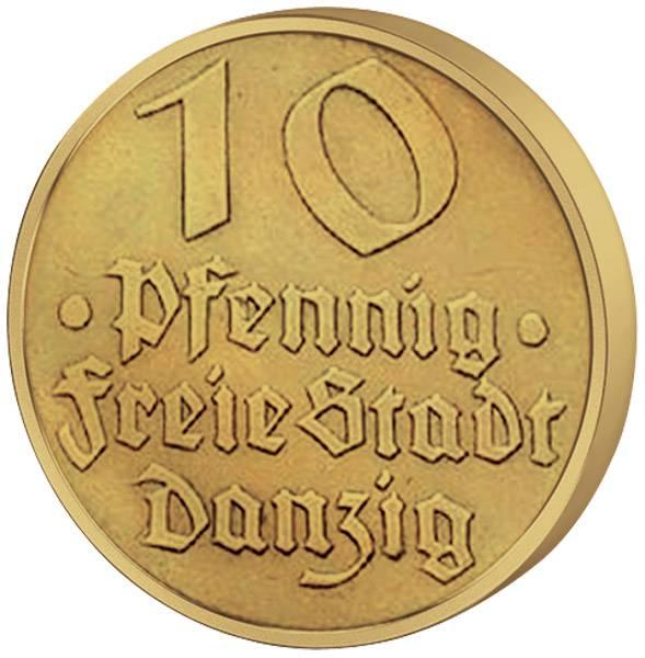 10 Pfennig Danzig Dorsch 1932 Vorzüglich