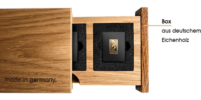 Box aus echtem Eichenholz