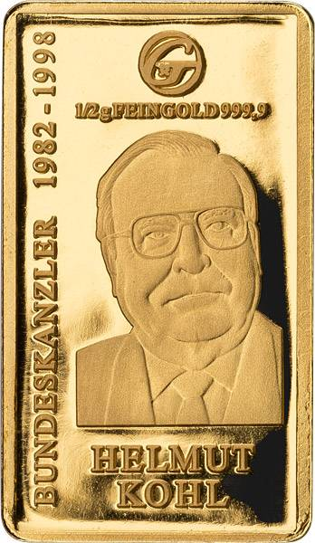 Goldbarren Helmut Kohl