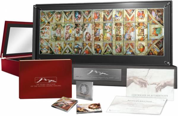 33 x 1 Dollar Michelangelos Deckenfresko der Sixtinische Kapelle 2011 Proof Like