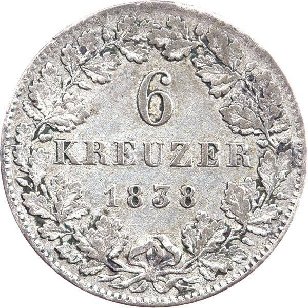 6 Kreuzer Nassau Herzog Wilhelm 1839 - 1839