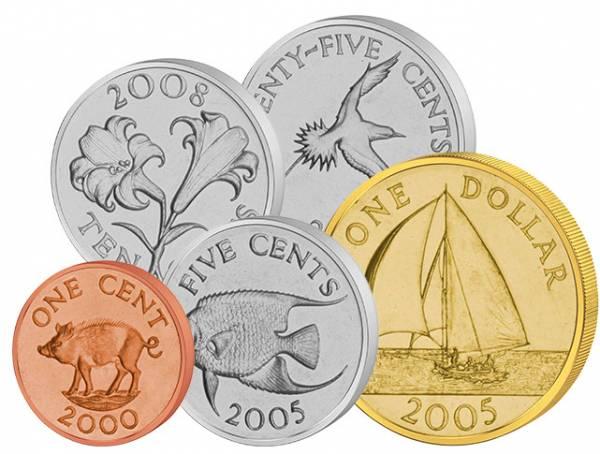 1 Cent - 1 Dollar Kursmünzen Bermuda 1999-2009