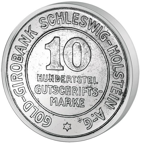 10/100 Gutschriftsmarke Provinz Schleswig-Holstein