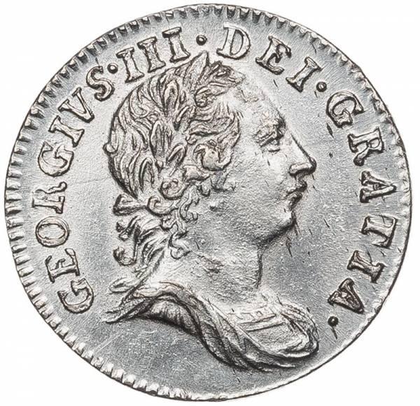 3 Pence Großbritannien George II. 1762 - 1786