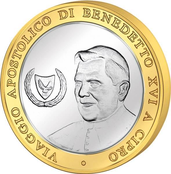 Gedenkprägung Papst Benedikt XVI in Zypern