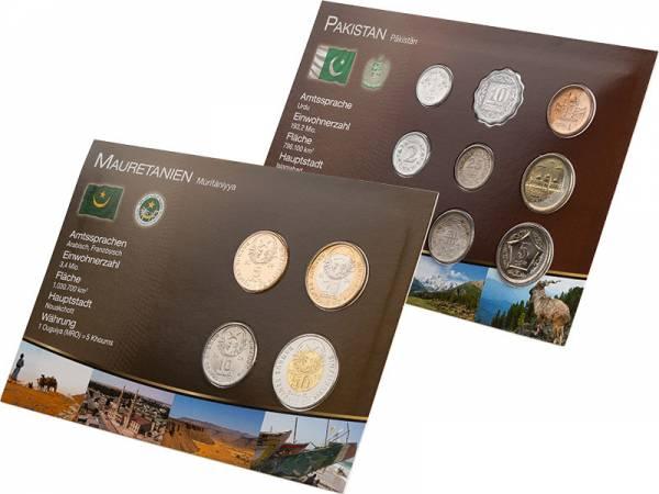 Premium-Kursmünzen-Set Pakistan und Mauretanien