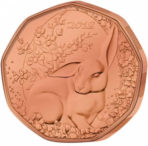 5 Euro Österreich Osterhase 2018