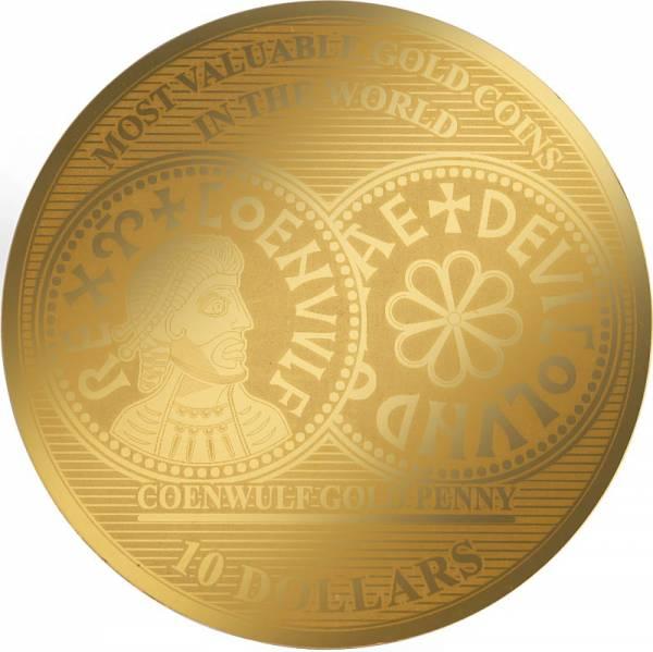1/100 Unze Gold Salomonen England Coenwulf Gold Penny 805 n.Chr. 2018