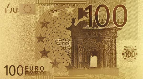 100 Euro BRD Goldfolien-Banknote