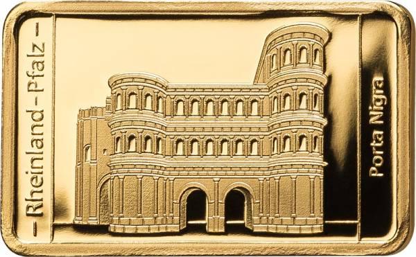 0,5 Gramm Goldbarren Rheinland-Pfalz Porta Nigra