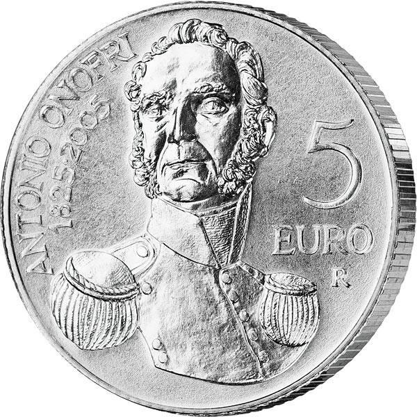 5 Euro San Marino 180. Todestag von Antonio Onofri 2005