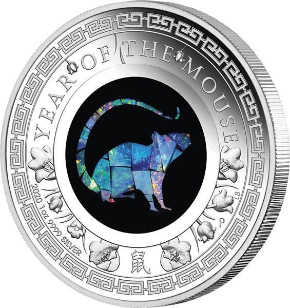 1 Dollar Australien Opal-Serie Jahr der Maus 2020