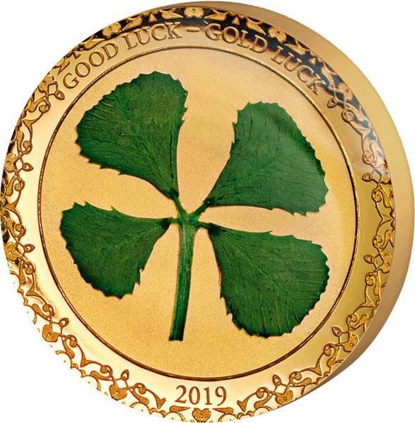1 Dollar Palau Kleeblatt Viel Glück 2019
